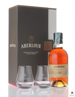 Aberlour 18 years old gift pack