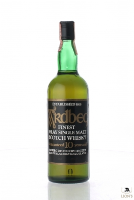 Ardbeg 10 years old black label 80's