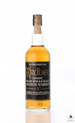 Ardbeg 10 years old clear glass 75cl