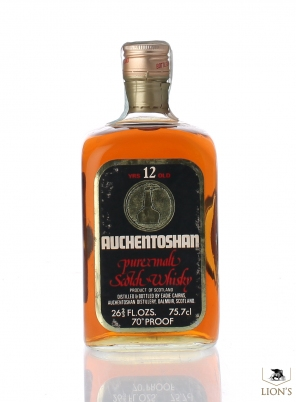 Auchentoshan 12 Years Old gold capsule