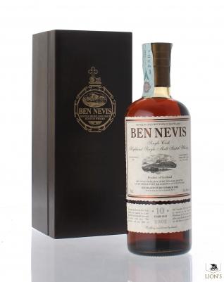 Ben Nevis 2002 10 Years old 56.4% cask 334