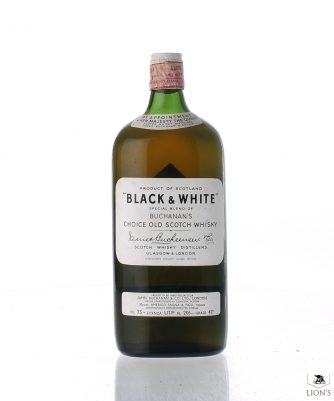Black & White Flat Bottle Spring Cap