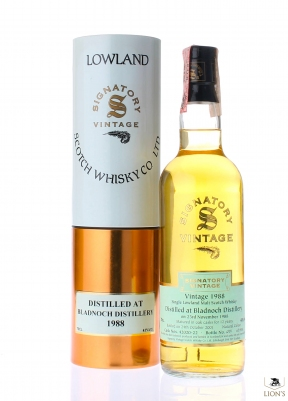 Bladnoch 1988 12 years old Signatory