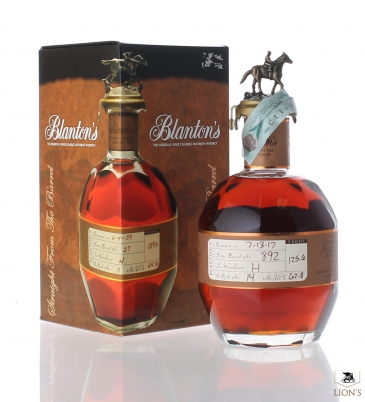 Blanton's straight from the barrel 62.8%