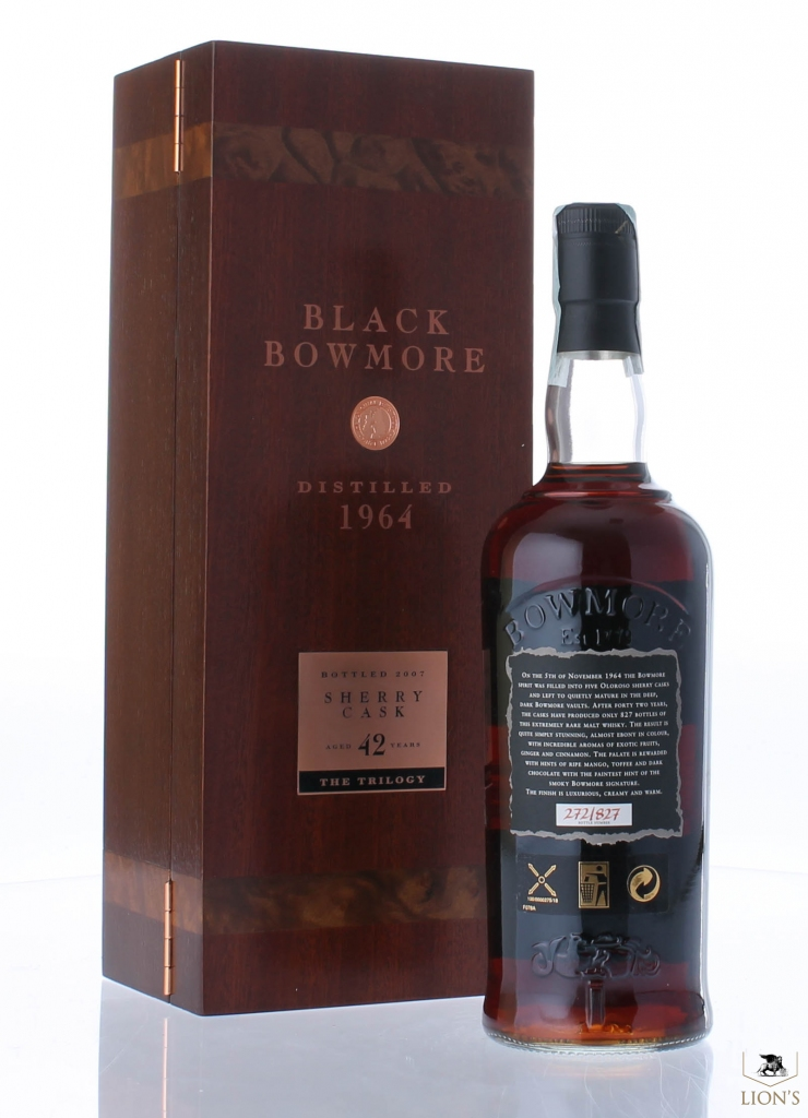 50 Year Old Whiskey >> Black Bowmore 1964 42 years old one of the best types of ...