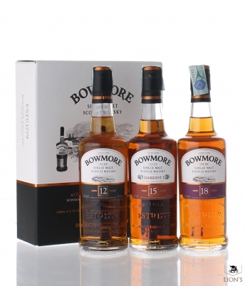 Bowmore collection set 3x20cl   12, 15 & 18 years old