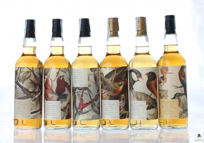 Birds set of 6 bottles Antique Lions of Whisky