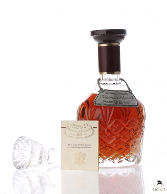 Chivas Regal 25 Years Old Chairman's Reserve II Stuart Crystal Decanter