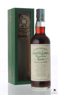 Rum Demerara 1975 40.6% Cadenhead's Green Label
