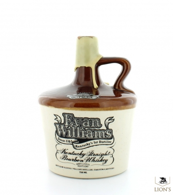 Evan Williams Kentucky Straight Bourbon 7 years old 90 proof 750ml ceramic flagon