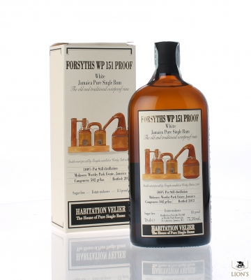 Forsyths Wp 151 proof white Jamaica Rum Habitation Velier
