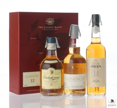 Classic malts Collection  Glenkinchie, Dalwhinnie & Oban