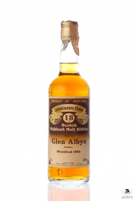 Glen Albyn 1963 18 Years Old CC Brown Label