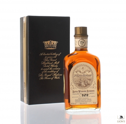 Glen Grant 25yo Royal Wedding Reserve Black box