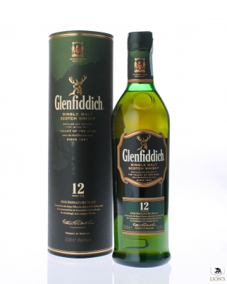 Glenfiddich 12y 40% 70 cl valley of the deer tube