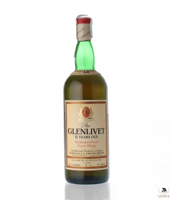 Glenlivet 12 Years Old 1 Litre Duty Free