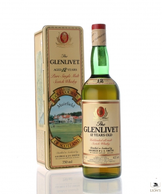 Glenlivet 12 Years Old Muirfield Tinbox