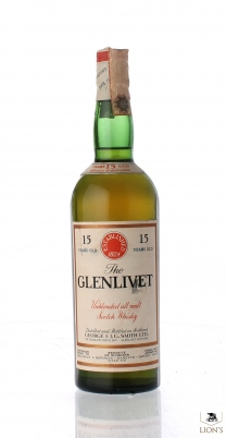 Glenlivet 15 Years Old 45.7% 75cl Baretto
