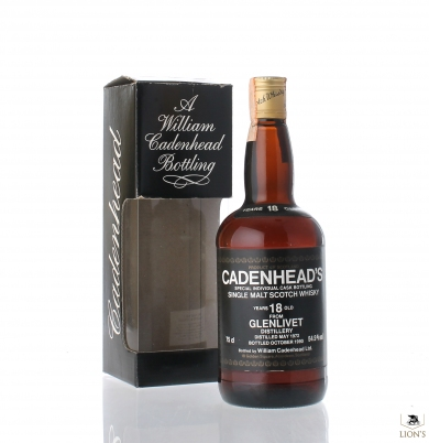 Glenlivet 1972 18 years old 54.9% Cadenhead