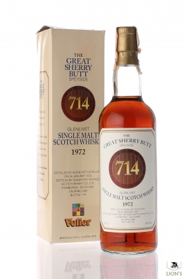 Glenlivet 1972 Great sherry Butt n. 714