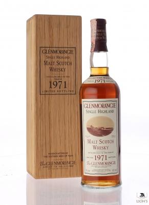 Glenmorangie 1971 wood box