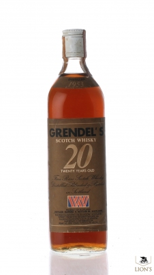 Grendel's 1953 20 years old square bottle