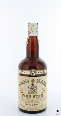 HAIG & HAIG 8 Years Old Five Star Tin Cap  USA Import NY