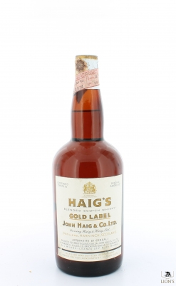 Haig Gold Label 44% tin cap Ferraretto Import