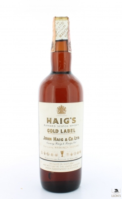 Haig Gold Label Tin Cap 42% brown glass