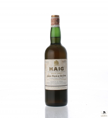 Haig Gold Label Tin Cap green glass