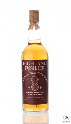 Highland Fusilier 15 years old G&M Co-Import