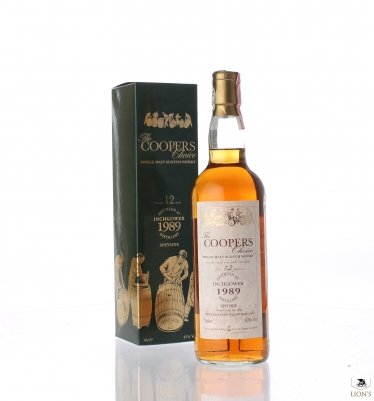Inchgower 1989 12yo 43% Cooper's choice 70cl