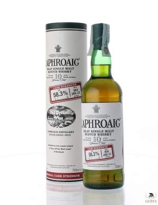 Laphoaig 10 years old 58.3% cask strenght batch 004