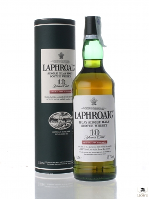 Laphroaig 10 years old Cask Strenth 55.7%1 Lt