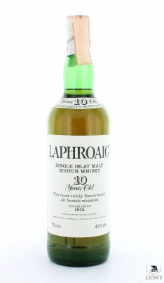 Laphroaig 10yo 43% 75cl no box