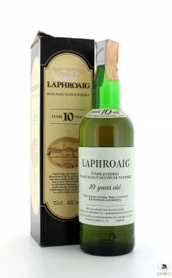 Laphroaig 10yo Bonfanti import with cream box