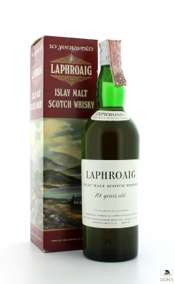 Laphroaig 10yo Bonfanti import with red box
