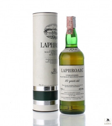 Laphroaig 10 years old unblended Cinzano