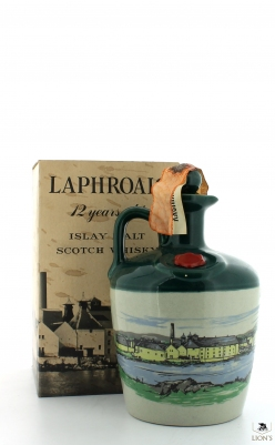 Laphroaig 12yo ceramic flagon, Bonfanti import