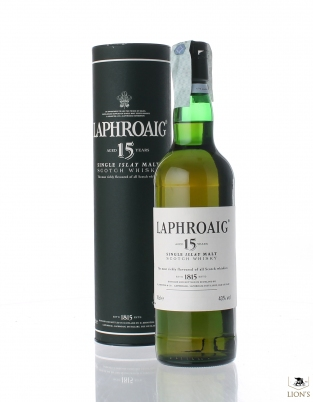 Laphroaig 15 years old green tube, UK market