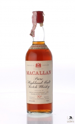 Macallan 10 Years Old red cap G&M