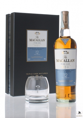 Macallan 12 years old Fine oak with glass