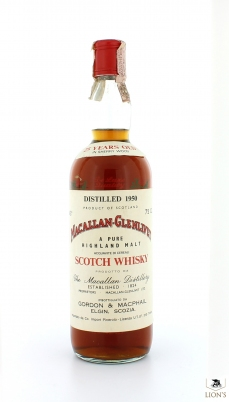 Macallan 1950 25yo G&M Stenciled Flowers
