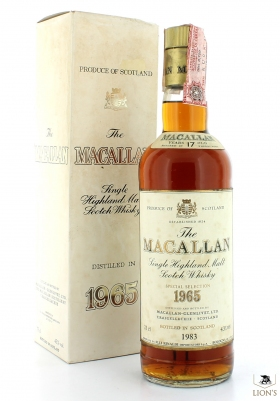 Macallan 1965 17 Years Old B1983 Rinaldi