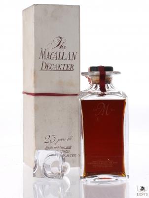 Macallan 1962 25yo B1987 43% 75cl Decanter