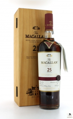Macallan 25yo sherry New presentation