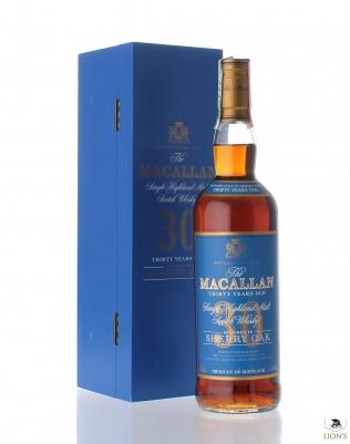 Macallan 30yo 43% 70cl sherry oak blue box