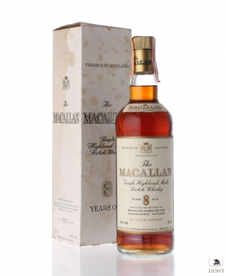 Macallan 8 years old Rinaldi import plastic cap