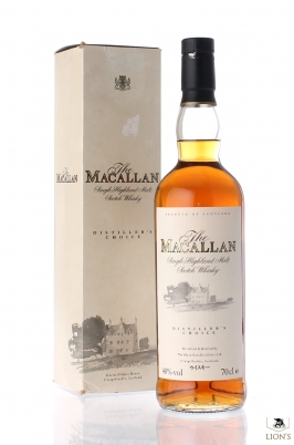 Macallan Distiller's Choice Japan Market black cap