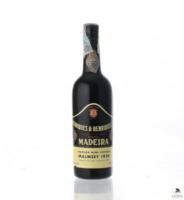 Madeira Malmsey 1934  Henriques & Henriques
